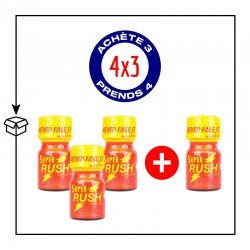PACK 4 POPPERS SUPER RUSH 10ML