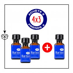PACK 4 POPPERS BLUE BOY 24ML